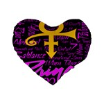 Prince Poster Standard 16  Premium Flano Heart Shape Cushions