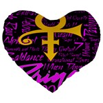Prince Poster Large 19  Premium Flano Heart Shape Cushions
