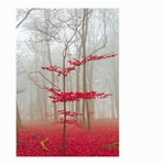 Magic forest in red and white Small Garden Flag (Two Sides)