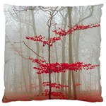 Magic forest in red and white Large Cushion Case (Two Sides) Front