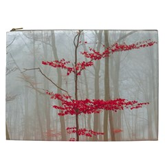 Magic Forest In Red And White Cosmetic Bag (xxl)  by wsfcow