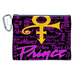 Prince Poster Canvas Cosmetic Bag (xxl) by Onesevenart