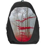 Magic forest in red and white Backpack Bag Front