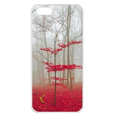 Magic Forest In Red And White Apple Iphone 5 Seamless Case (white) by wsfcow