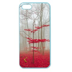 Magic Forest In Red And White Apple Seamless Iphone 5 Case (color) by wsfcow