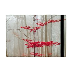 Magic Forest In Red And White Apple Ipad Mini Flip Case by wsfcow