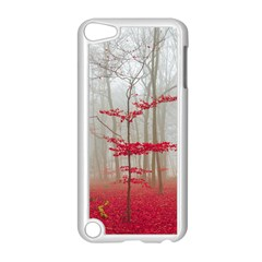 Magic Forest In Red And White Apple Ipod Touch 5 Case (white) by wsfcow
