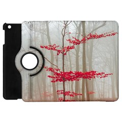 Magic Forest In Red And White Apple Ipad Mini Flip 360 Case by wsfcow