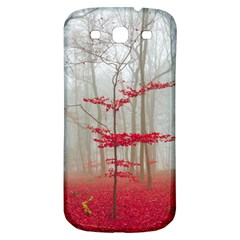 Magic Forest In Red And White Samsung Galaxy S3 S Iii Classic Hardshell Back Case by wsfcow