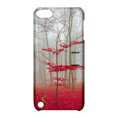 Magic Forest In Red And White Apple Ipod Touch 5 Hardshell Case With Stand by wsfcow