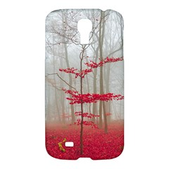 Magic Forest In Red And White Samsung Galaxy S4 I9500/i9505 Hardshell Case by wsfcow