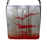 Magic forest in red and white Flap Messenger Bag (L)