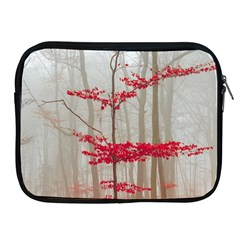 Magic Forest In Red And White Apple Ipad 2/3/4 Zipper Cases by wsfcow