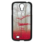 Magic forest in red and white Samsung Galaxy S4 I9500/ I9505 Case (Black)