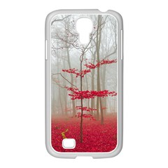 Magic Forest In Red And White Samsung Galaxy S4 I9500/ I9505 Case (white) by wsfcow