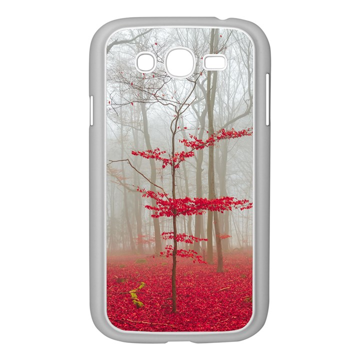 Magic forest in red and white Samsung Galaxy Grand DUOS I9082 Case (White)