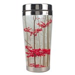 Magic forest in red and white Stainless Steel Travel Tumblers Center