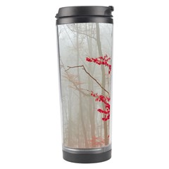 Magic Forest In Red And White Travel Tumbler