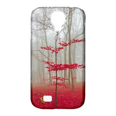 Magic Forest In Red And White Samsung Galaxy S4 Classic Hardshell Case (pc+silicone) by wsfcow