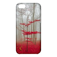 Magic Forest In Red And White Apple Iphone 5c Hardshell Case by wsfcow