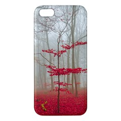 Magic Forest In Red And White Iphone 5s/ Se Premium Hardshell Case by wsfcow