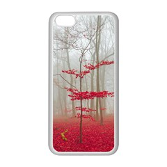 Magic Forest In Red And White Apple Iphone 5c Seamless Case (white) by wsfcow