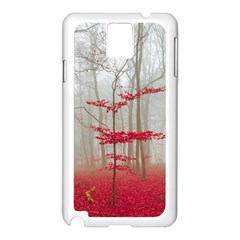 Magic Forest In Red And White Samsung Galaxy Note 3 N9005 Case (white) by wsfcow
