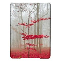 Magic Forest In Red And White Ipad Air Hardshell Cases by wsfcow