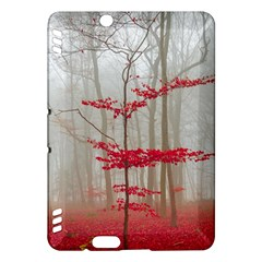 Magic Forest In Red And White Kindle Fire Hdx Hardshell Case by wsfcow