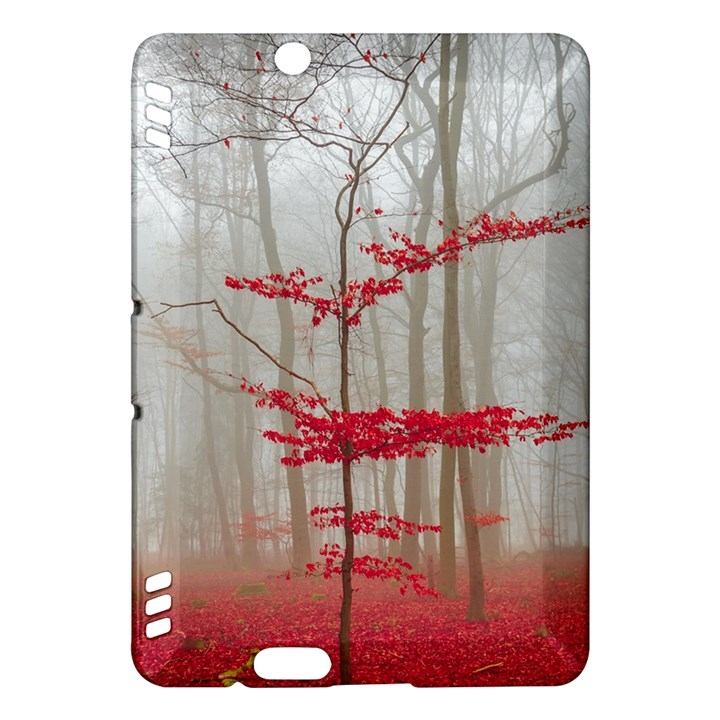 Magic forest in red and white Kindle Fire HDX Hardshell Case