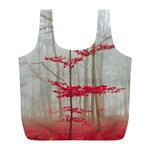 Magic forest in red and white Full Print Recycle Bags (L)