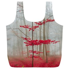 Magic Forest In Red And White Full Print Recycle Bags (l)  by wsfcow