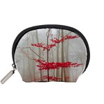 Magic forest in red and white Accessory Pouches (Small)  Front