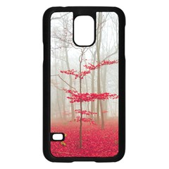 Magic Forest In Red And White Samsung Galaxy S5 Case (black) by wsfcow