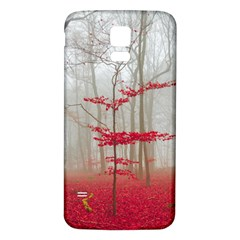 Magic Forest In Red And White Samsung Galaxy S5 Back Case (white) by wsfcow