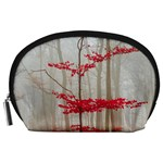 Magic forest in red and white Accessory Pouches (Large)  Front