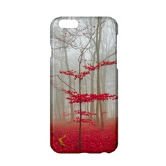 Magic Forest In Red And White Apple Iphone 6/6s Hardshell Case by wsfcow