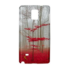 Magic Forest In Red And White Samsung Galaxy Note 4 Hardshell Case