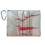 Magic forest in red and white Canvas Cosmetic Bag (XL)