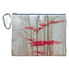 Magic Forest In Red And White Canvas Cosmetic Bag (xxl) by wsfcow