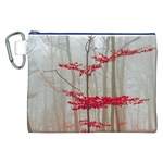 Magic forest in red and white Canvas Cosmetic Bag (XXL)
