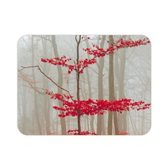 Magic Forest In Red And White Double Sided Flano Blanket (mini)  by wsfcow