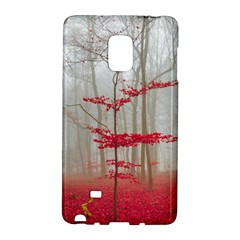 Magic Forest In Red And White Galaxy Note Edge by wsfcow