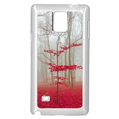 Magic Forest In Red And White Samsung Galaxy Note 4 Case (white) by wsfcow