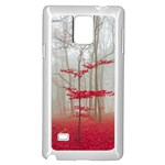 Magic forest in red and white Samsung Galaxy Note 4 Case (White) Front