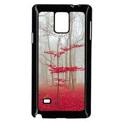 Magic Forest In Red And White Samsung Galaxy Note 4 Case (black) by wsfcow