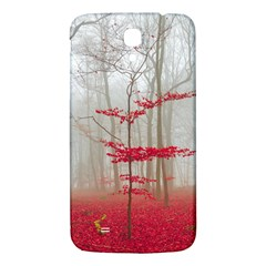 Magic Forest In Red And White Samsung Galaxy Mega I9200 Hardshell Back Case