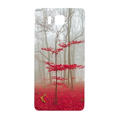 Magic Forest In Red And White Samsung Galaxy Alpha Hardshell Back Case by wsfcow
