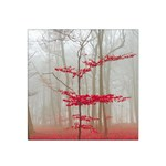 Magic forest in red and white Satin Bandana Scarf Front