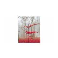 Magic Forest In Red And White Satin Wrap